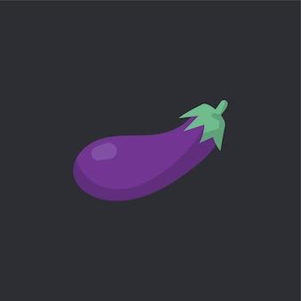 Roher organischer auberginenlebensmittelvektor