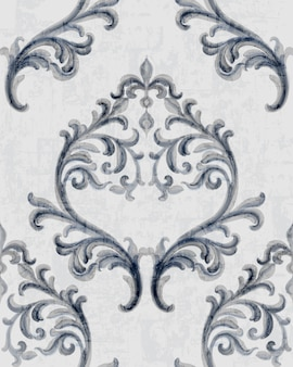 Rokoko silber textur muster mit floralen ornamenten
