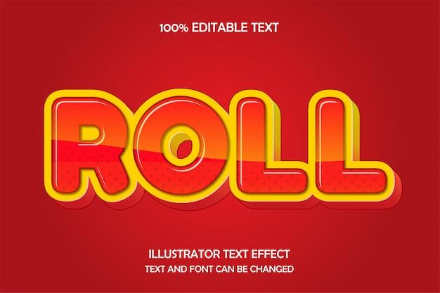 Roll, bearbeitbarer texteffekt glühstil