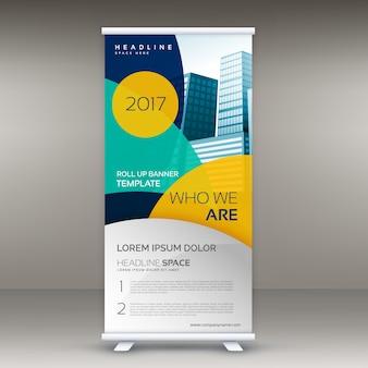 Roll-up banner design-vorlage mit modernen formen