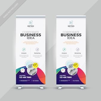 Roll-up banner design vorlage