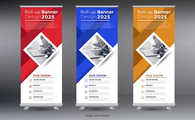 Roll up banner design vorlage
