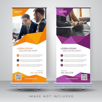Roll up banner entwurfsvorlage