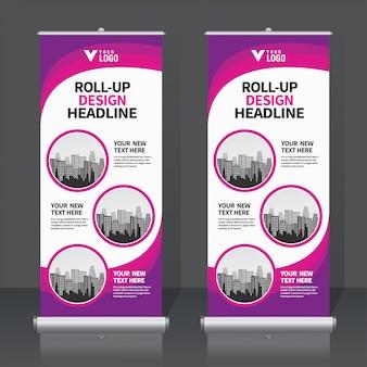 Roll-up banner gesetzt