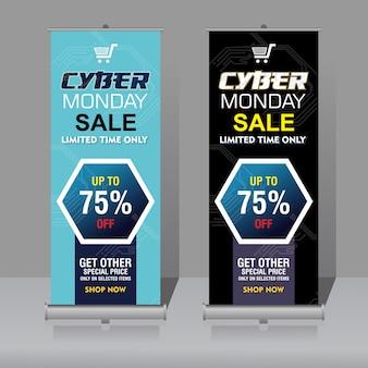 Roll-up-banner von cyber montag