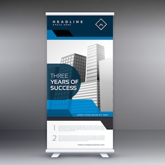 Roll-up display banner mit geometrischen formen