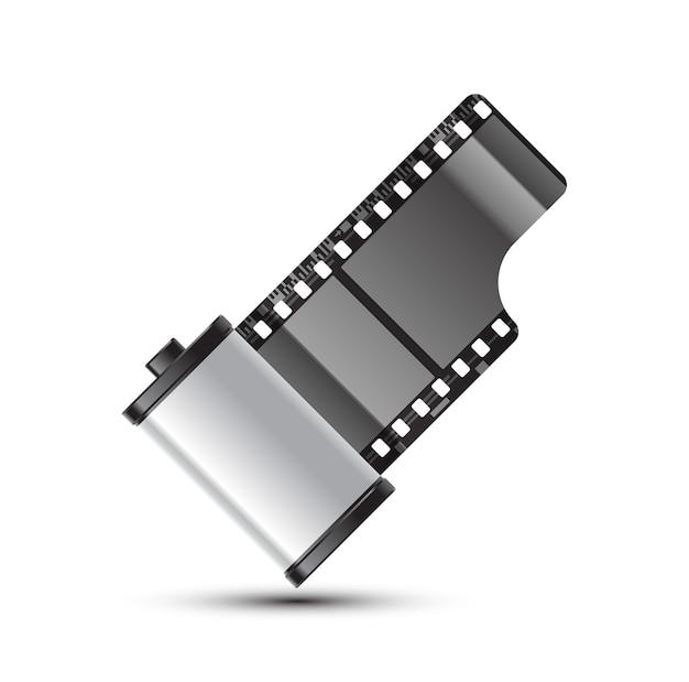 Rolle mit 35 mm fotofilm