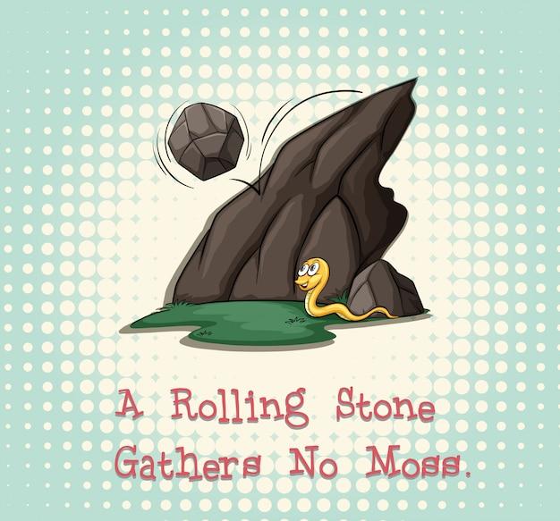 Rollender stein sammelt kein moos