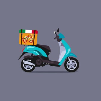 Roller motorrad illustration