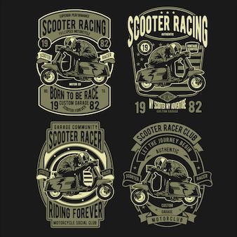 Roller racer abzeichen