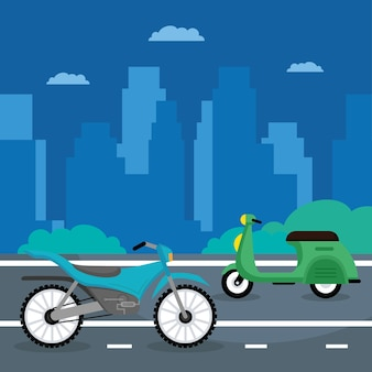 Roller und motorräder