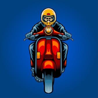 Rollerfahrer illustration