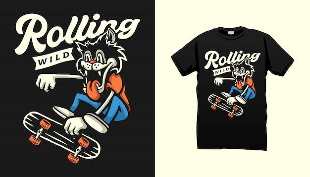 Rolling wild t-shirt design