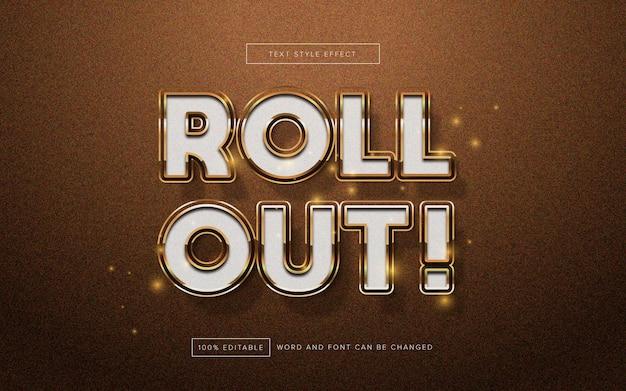 Rollout gold texteffekt bearbeitbar
