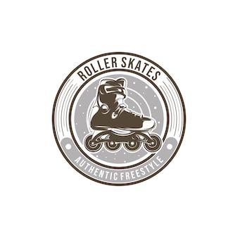Rollschuh-team-logo-vorlagenentwurf