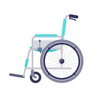 Rollstuhl. seitwärts.