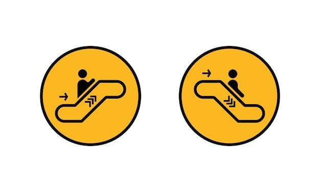 Rolltreppe-icon-set. auf und ab. unternehmenskonzept. vektor auf weißem hintergrund isoliert. eps 10.