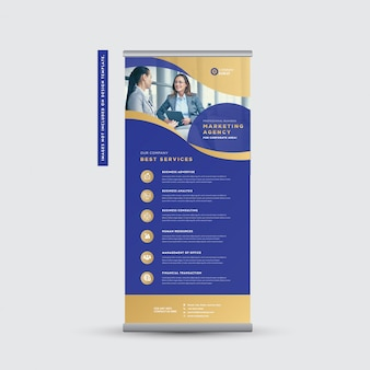 Rollup banner design für unternehmen | stand up banner | vertikale beschilderung | poster-design anzeigen
