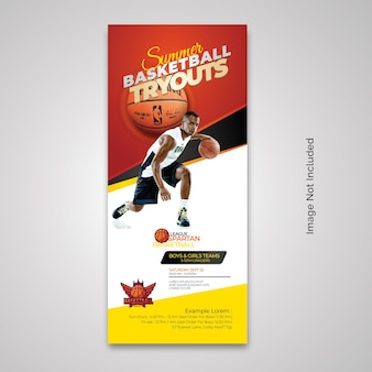 Rollup-banner für basketball-tryouts