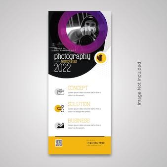Rollup-banner für fotografie