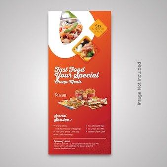 Rollup-banner für gesunde lebensmittel im restaurant