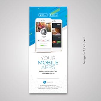 Rollup-banner für mobile apps
