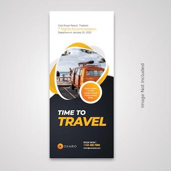 Rollup-banner für reisen
