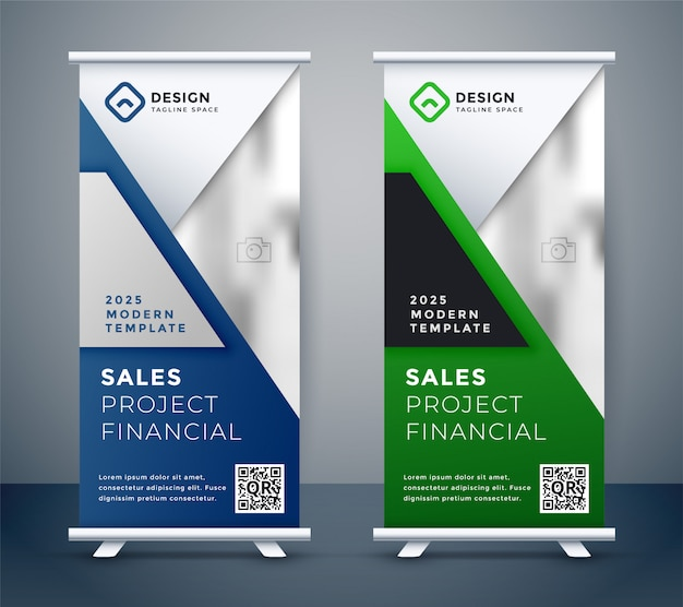 Rollup standee präsentation business banner