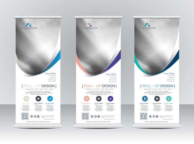 Rollup xbanner stand template design