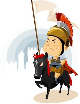Rom kavallerie mit galea
