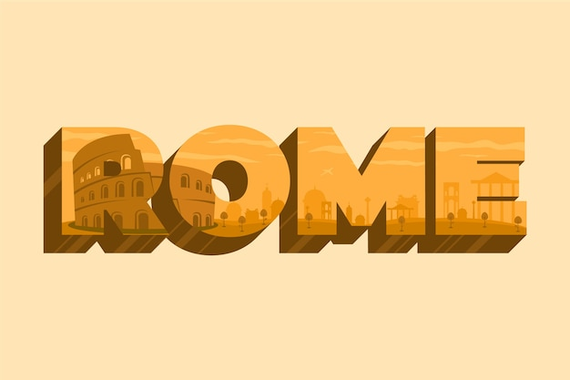 Rom stadt schriftzug