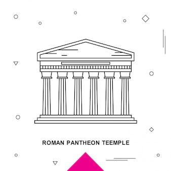 Roman pantheon-teempel