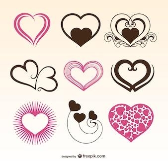 Romantic valentine herzen