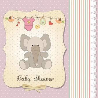 Romantische babymitteilungskarte