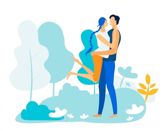 Romantische beziehungen, liebe, treffen, draußen ausgehen
