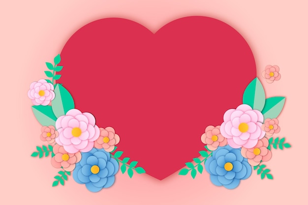 Romantische blumensträuße und herz