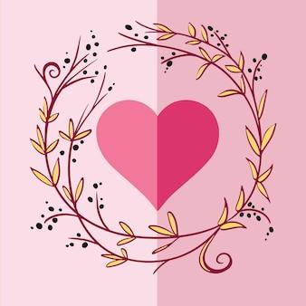 Romantische grußkarte