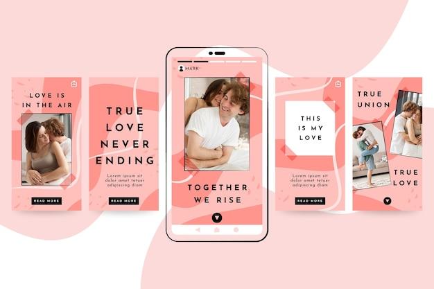 Romantische paar instagram geschichten