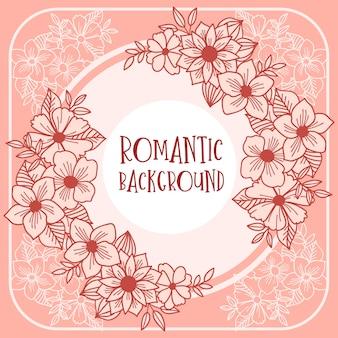 Romantische rosa einladung