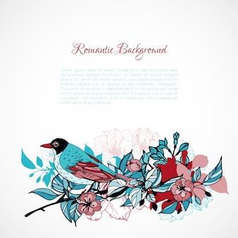 Romantischer blumenhintergrund