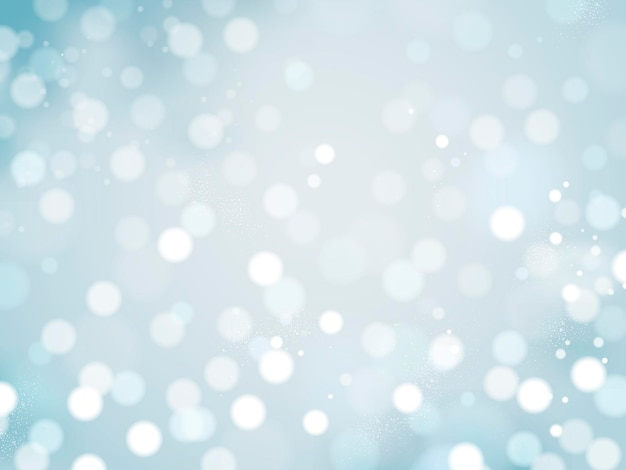 Romantischer glitzernder hintergrund, abstrakte dekorative bokeh-tapete für designzwecke, blauton