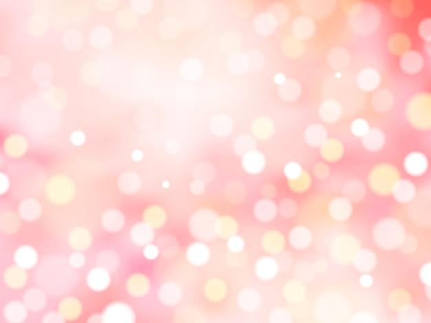 Romantischer glitzernder hintergrund, abstrakte dekorative bokeh-tapete für designzwecke, rosa ton