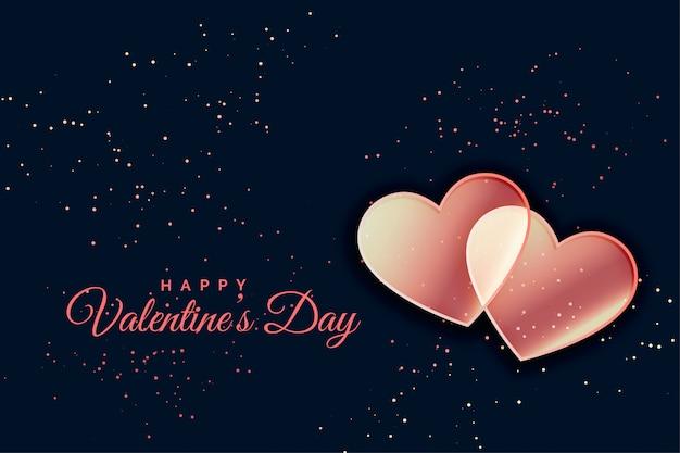 Romantischer herzhintergrund für valentinsgrußtag
