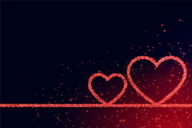 Romantischer hintergrund der liebesherzen für valentinstag