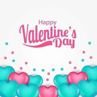 Romantischer valentinstag der illustrationsliebe