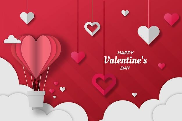 Romantischer valentinstag hintergrund