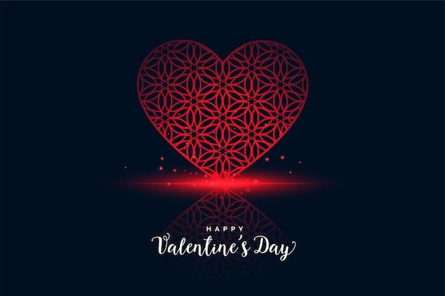 Romantisches herz für glückliche valentinstaggrußkarte