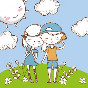 Romantisches liebespaar süß