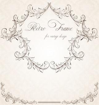 Romantisches plakat klassischen leere silhouette