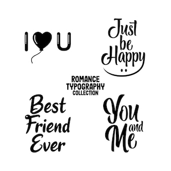 Romantisches typografie-design